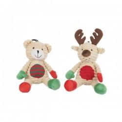 Peluche Ours + Renne de Noël pour chien