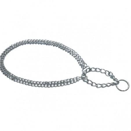 Collier métal semi-étrangleur pour chien
