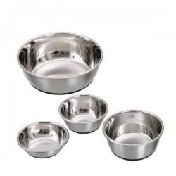 Gamelle bol acier inoxydable anti-dérapante pour chien