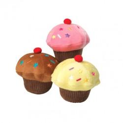 Jouet cupcake peluche rose pour chien
