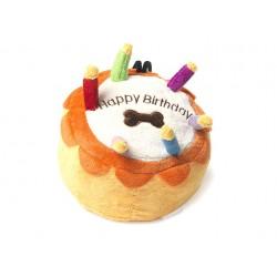 Jouet gâteau peluche Happy Birthday pour chien