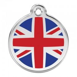 Médaille Drapeau UK en émail pour chien