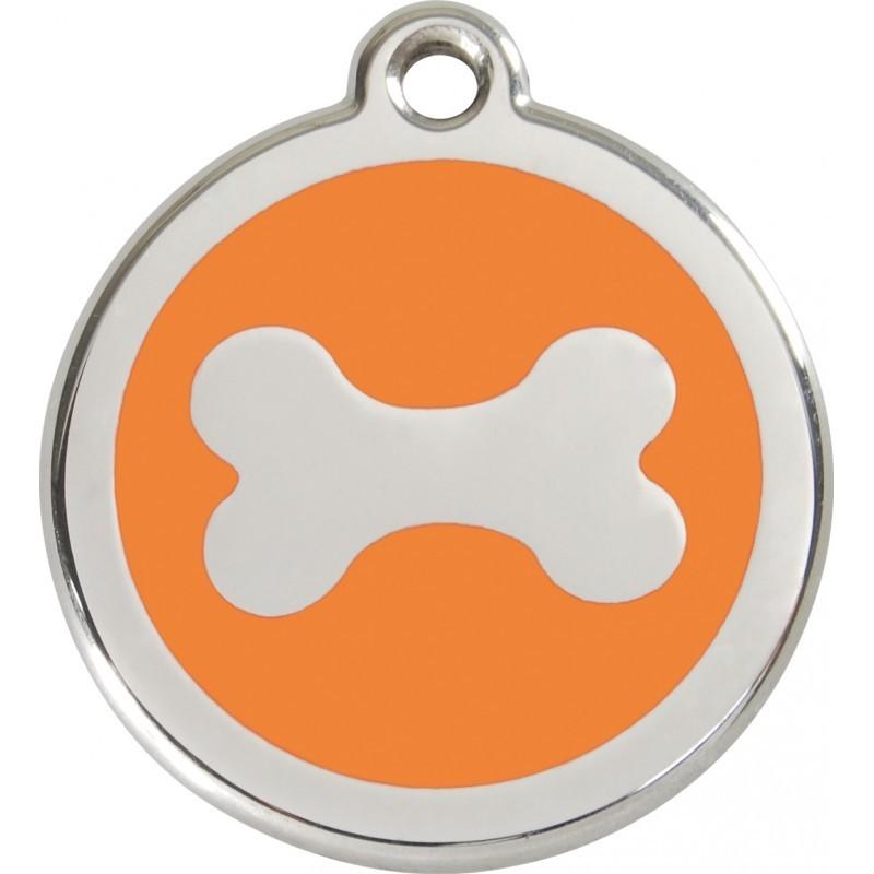 Médaille Os émail pour chien