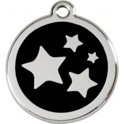 Médaille Etoiles noire pour chien