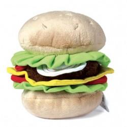 Jouet big hamburger en peluche pour chien