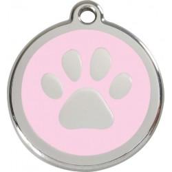 Médaille Patte rose pour chien