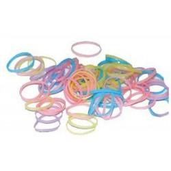 Sachet d'élastiques multicolores pour chien
