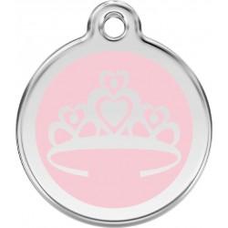 Médaille Princesse rose pour chien
