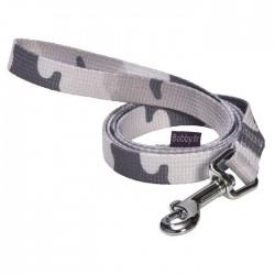 Laisse nylon camouflage gris pour chien