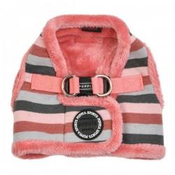Harnais veste fourré bryson rose pour chien