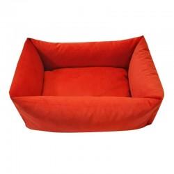 Sofa velours vermillon pour chien
