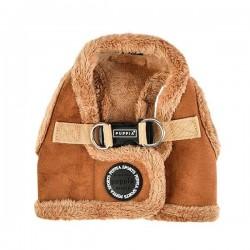 Harnais veste fourré camel pour chien
