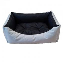 Sofa imperméable gris clair et noir pour chien