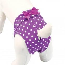 Culotte hygiène petit noeud en lycra pour chien