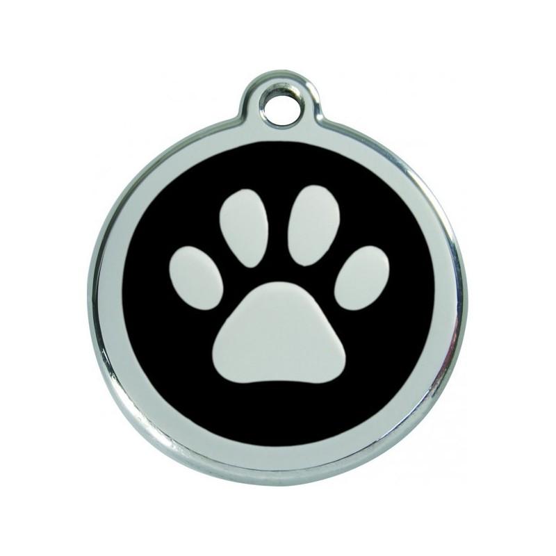 Médaille Patte émail pour chien