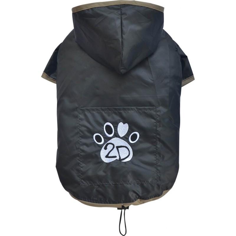 Imperméable souple 2D à capuche pour chien