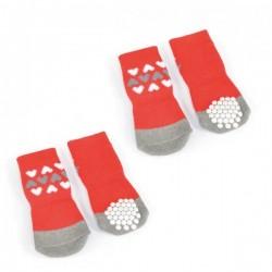 Chaussettes anti-glisse pour chien