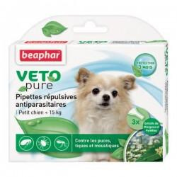 Pipettes répulsives antiparasitaires Beaphar pour chiot et chien
