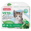 Pipettes répulsives antiparasitaires Beaphar pour chaton et chat