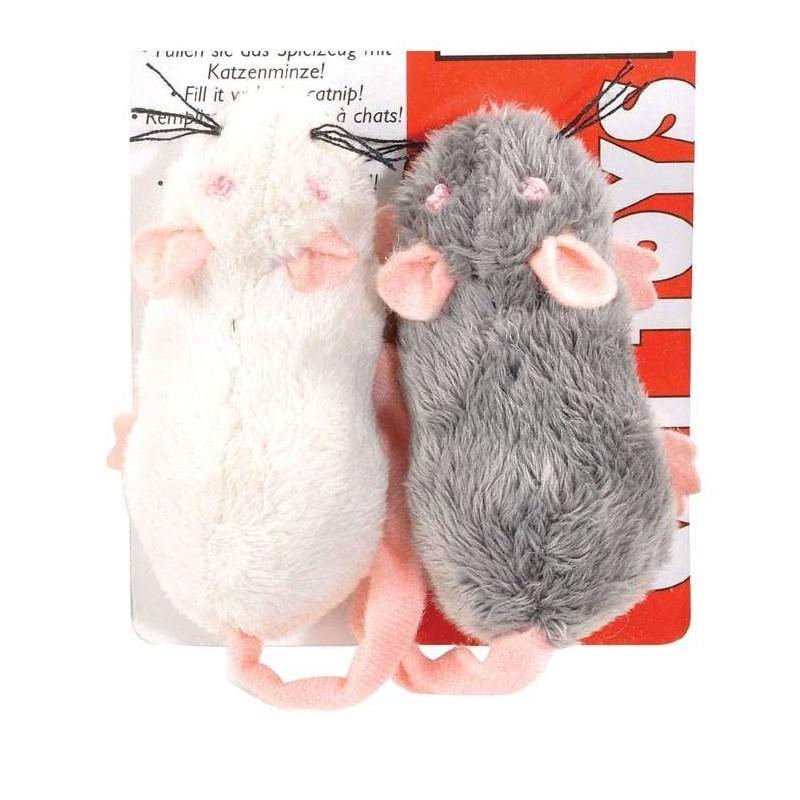 Lot 2 souris jouet pour chat