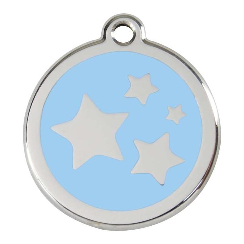 Médaille Etoiles bleu ciel pour chien