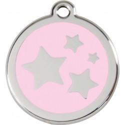 Médaille Etoiles rose pour chien