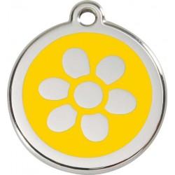 Médaille Fleur jaune pour chien