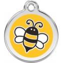 Médaille Abeille jaune pour chien