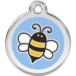 Médaille Abeille bleu pour chien