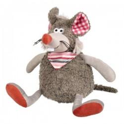 Jouet souris grise en peluche pour chien