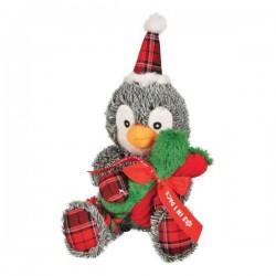 Jouet pingouin de Noël en peluche pour chien