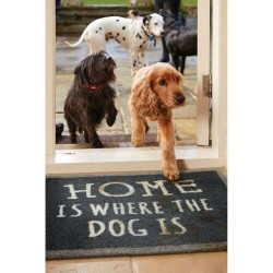 """Tapis """"Home is where the dog is"""" pour chien"""