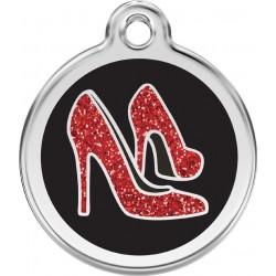 Médaille pailletée Escarpins rouges pour chien
