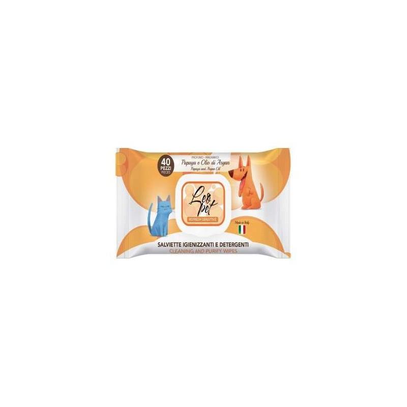 Lingettes nettoyantes papaye et huile d'Argan pour chien