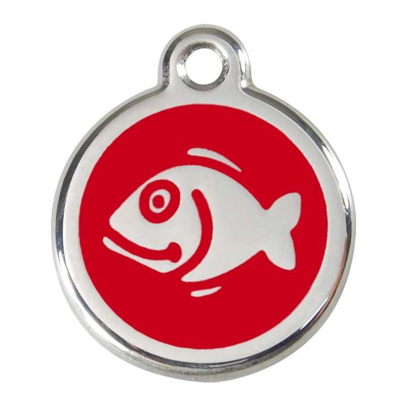 Médaille poisson rouge pour chat
