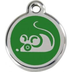 Médaille souris verte pour chat