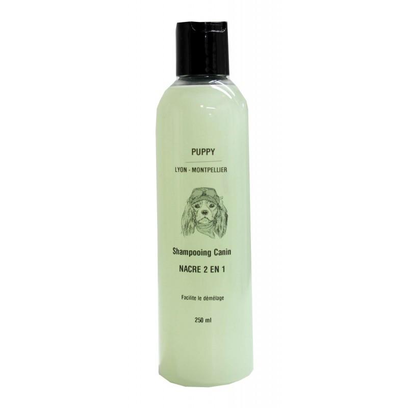 Shampooing Puppy Nacre 2 en 1 pour chien
