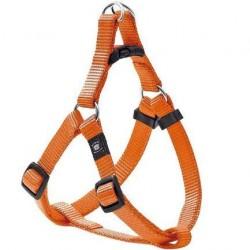Harnais rapide nylon orange pour chien