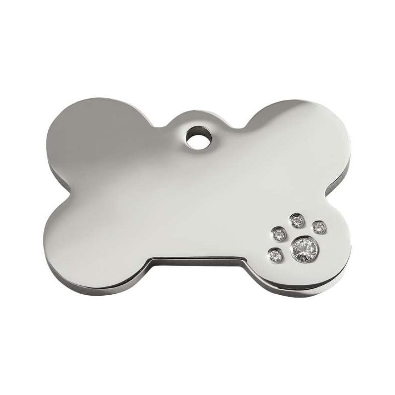 Médaille Diamant Os pour chien et chat