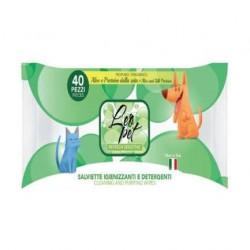 Lingettes nettoyantes Protéines de soie et Aloé Vera pour chien et chat