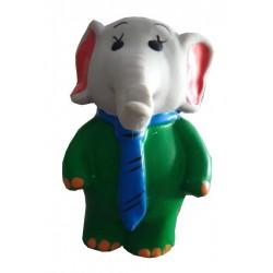 Jouet Babar éléphant en latex pour chien