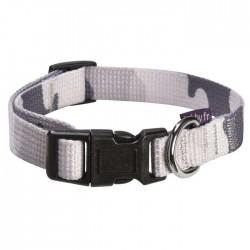Collier nylon camouflage gris pour chien