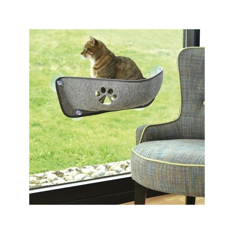 Hamac à ventouses pour chat