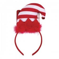 Serre-tête bonnet de lutin de Noël pour chien et chat