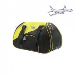 Sac de transport Airbus jaune pour chien