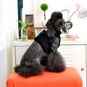 Harnais veste fourré noir pour chien