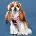Harnais veste fourré Isola rose pour chien