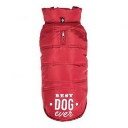 Doudoune imperméable rouge pour chien
