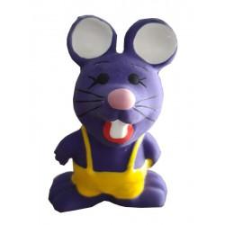 Jouet souris violette en latex pour chien
