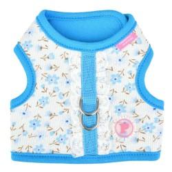 Harnais veste Pinka Lobélia bleu pour chien